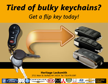 Tired of bulkey keychains? get a flip key from your standard transponder key.