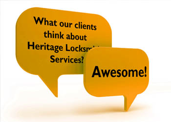 Click to read testimonials about Heritage Locksmith