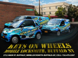 Locksmith Niagara Falls NY - Heritge Locksmith's mobile service called Keys On Wheels